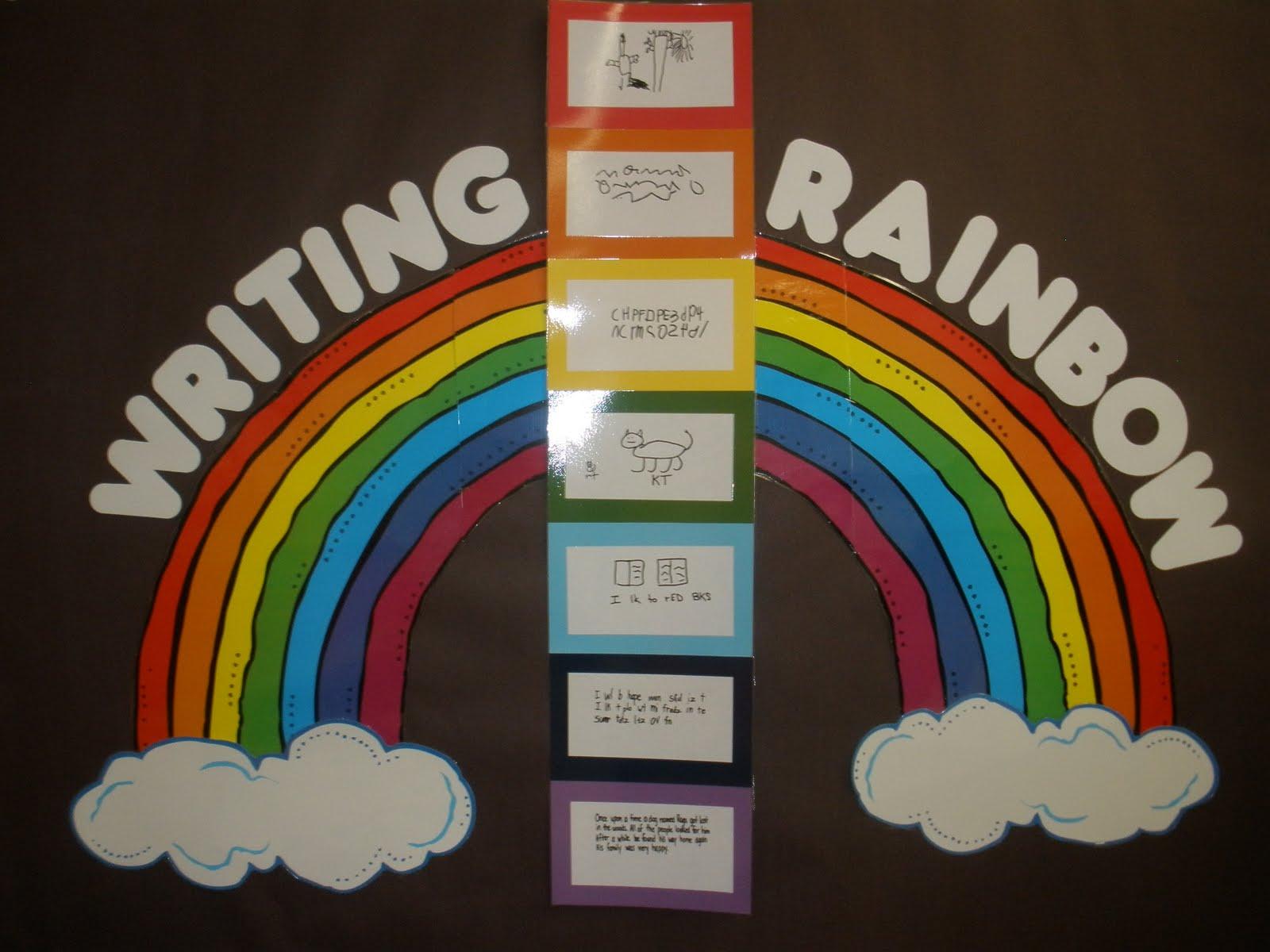 The Art Of Teaching A Kindergarten Blog Writing Rainbow