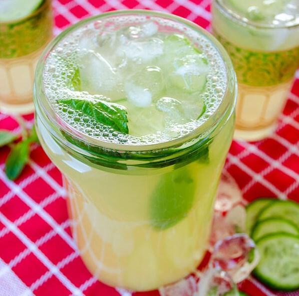 FRESH CUCUMBER MINT LEMONADE #drinks #cocktail