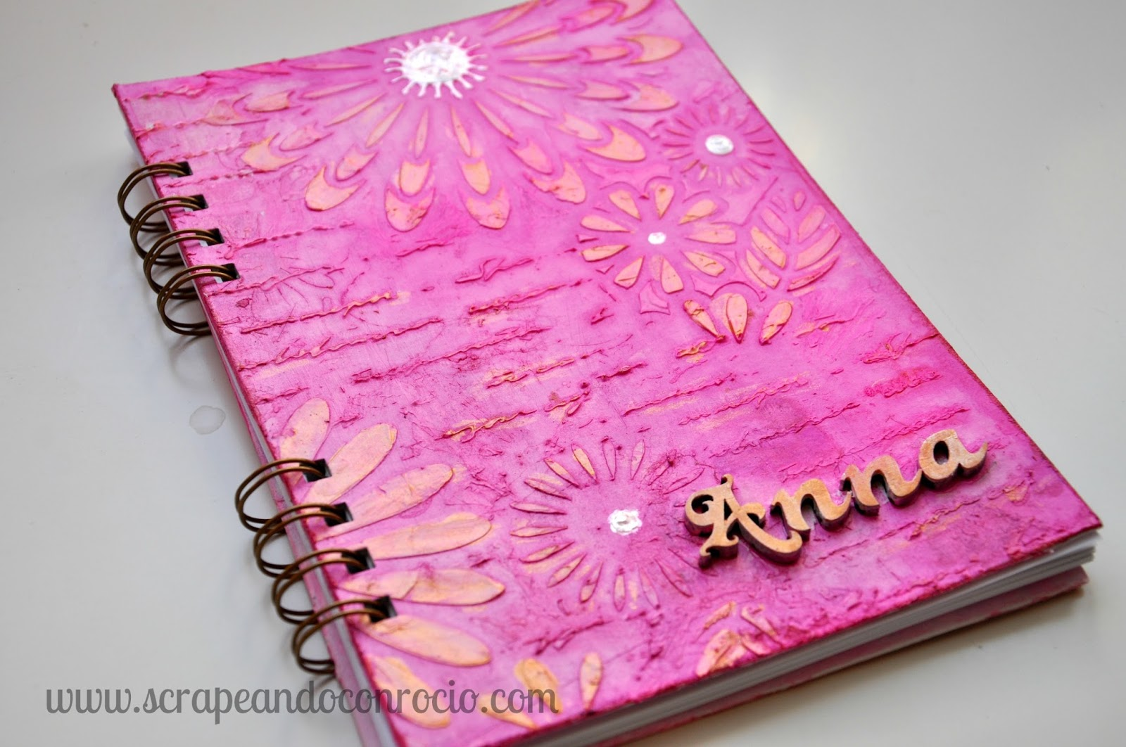 Ideas Para Decorar Tu Libreta Scrapeando Con Rocío Cuaderno Mixed Media