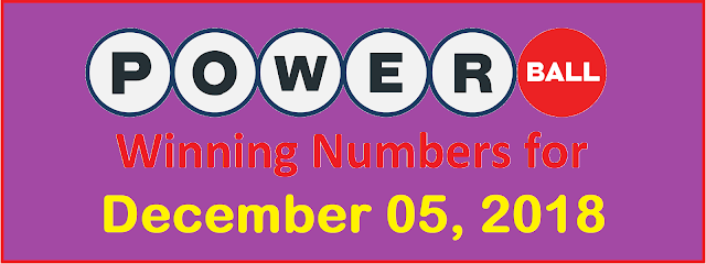PowerBall Winning Numbers for Wednesday, 05 December 2018