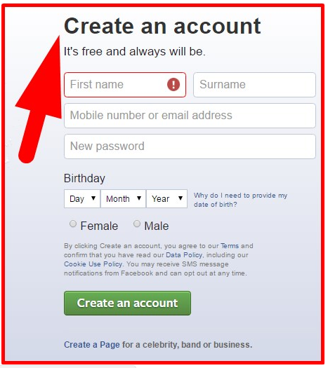 Facebook New Account Setup