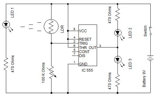 circuit diagram of electronic letter box
