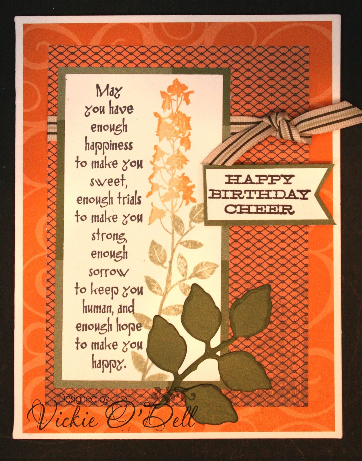 Heartful Stamper Autumn Colored Birthday Cheer
