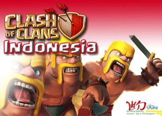 Wow !!! Sekarang Game Clash of Clans mendukung bahasa Indonesia