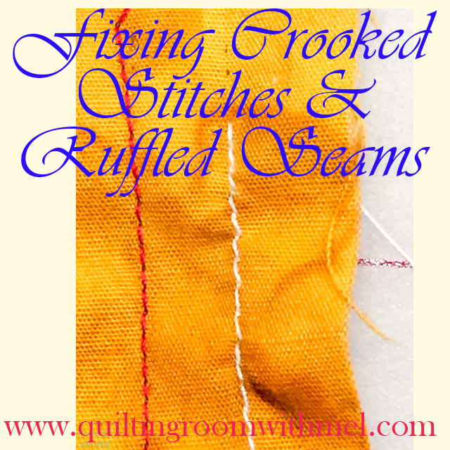 fixing crooked stitches