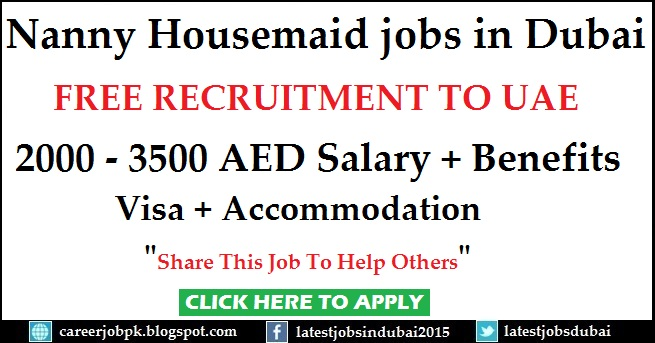 Nanny Housemaid jobs in Dubai