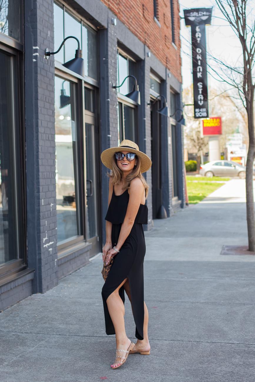 amazon black nerlerolian women's adjustable strappy split autumn beach casual midi dress