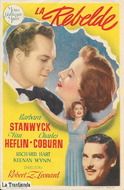 La Rebelde - Programa de Cine - Van Heflin - Barbara Stanwyck