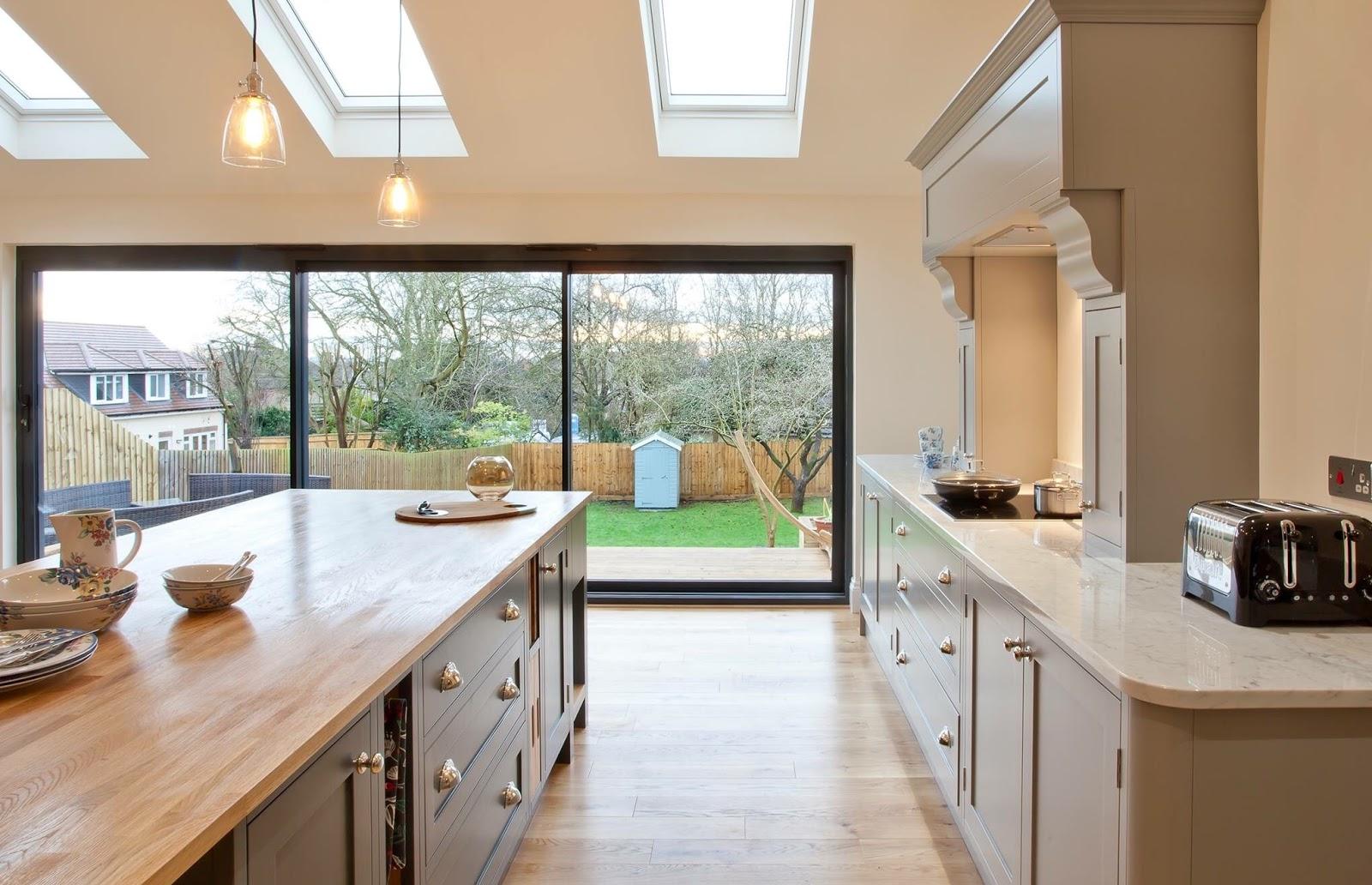 Open Plan Kitchen With Island And Bifold Doors Novocom Top