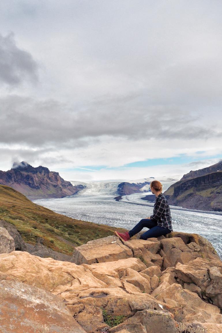 Skaftafelljökull en Islande