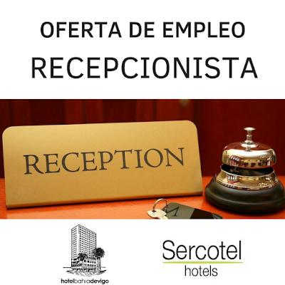 oferta de empleo recepcionista Vigo