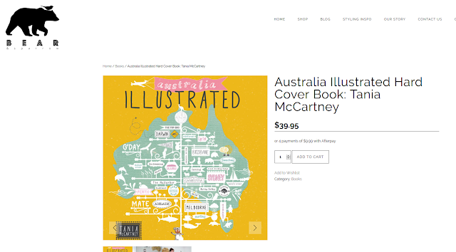 http://bearandsparrow.com.au/product/australia-illustrated-hard-cover-book-tania-mccartney/