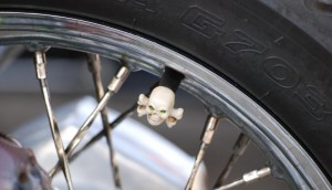 the rear wheel of the Skull