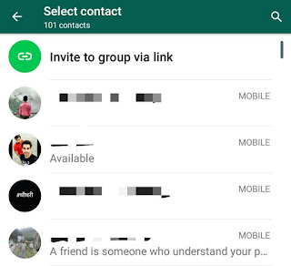 Invite to group via link