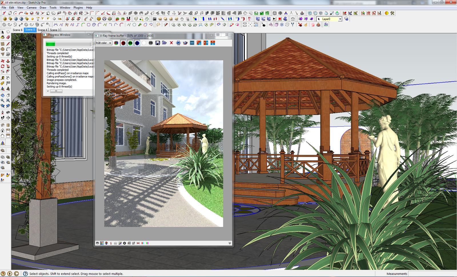 Landscape design lim rady for Villa landscape plan