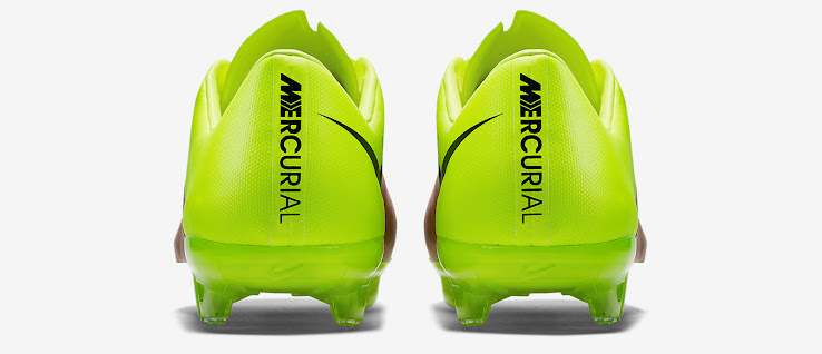 2676c7872173 3 of 3. The gold-colored Nike Mercurial Vapor Leather Cleats combine the  innovations of the synthetic Nike Mercurial Vapor ...