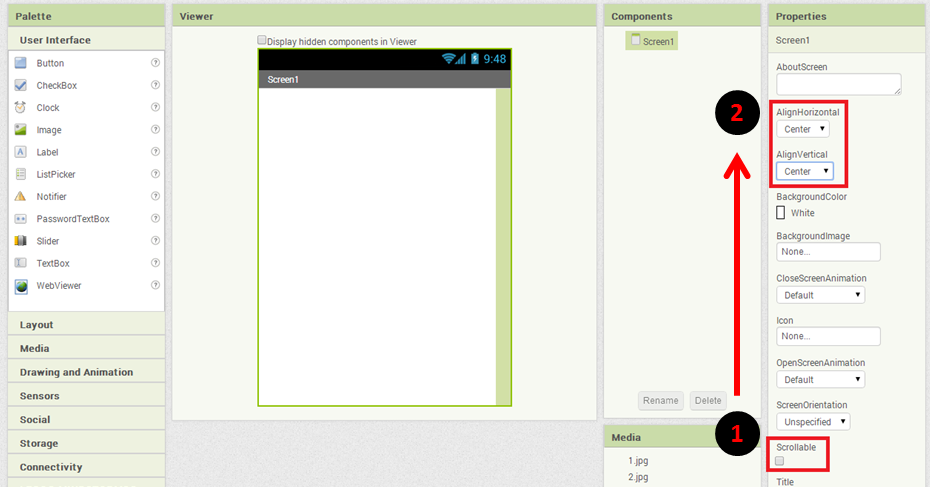 App Inventor 2 - 翻轉教學策略應用於程式設計課程網站: App Inventor 2 的範例程式 - 出氣筒(程式)