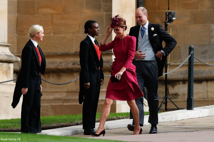 Duchess Kate: Kate in Raspberry Pink McQueen Dress & George and ...