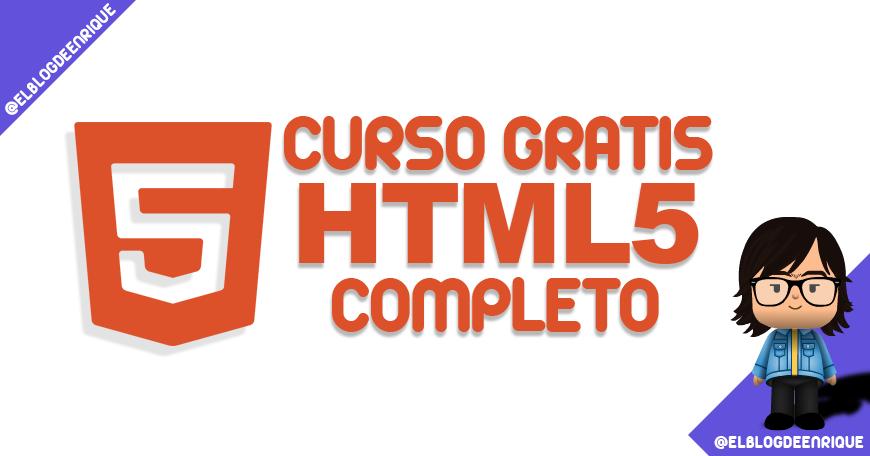 Curso online gratis HTML5 completo