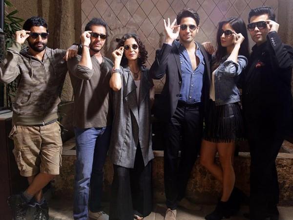 Sidharth Malhotra, Katrina Kaif and Team in Karan Johar's Baar Baar Dekho