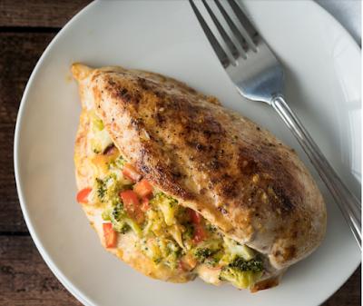 Broccoli Cheese Stuffed Chicken Breast #dinnerrecipe