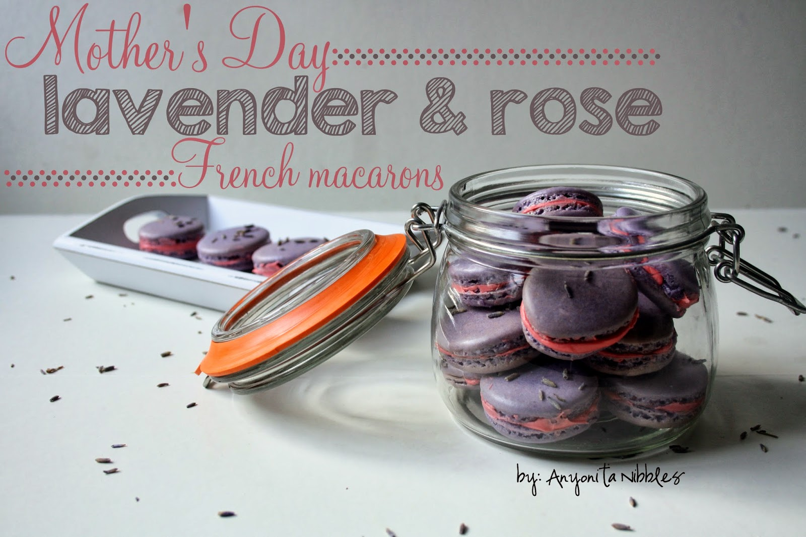 Celebrate #mothersday with #glutenfree #lavender and #rose #French #macarons from @anyonitanibbles