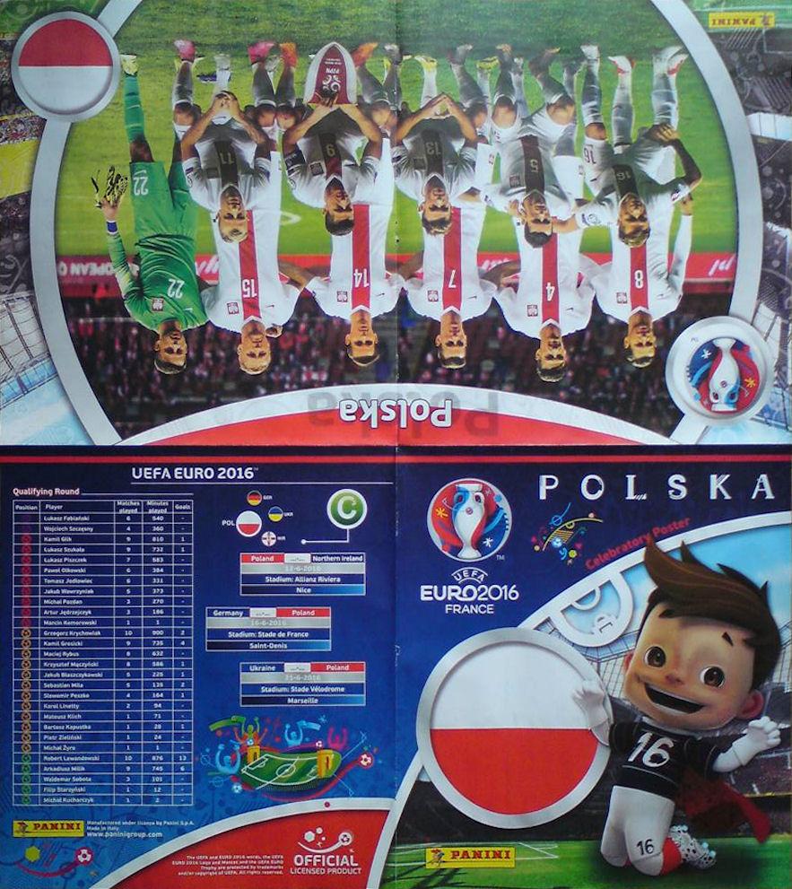football cartophilic info exchange panini uefa euro 2016 france 18 poland. Black Bedroom Furniture Sets. Home Design Ideas