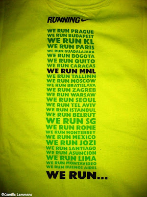 Nike We Run Manila 10 km run, finisher shirt