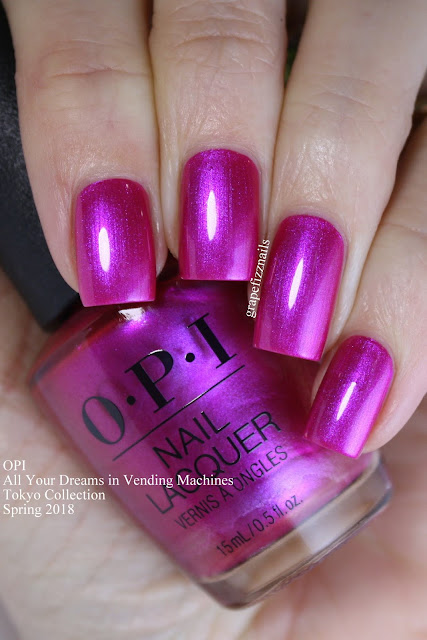All Your Dreams in Vending Machines, OPI Tokyo Collection Spring 2019
