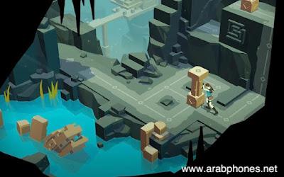 تحميل لعبة المغامرات والألغاز Lara Croft GO apk + data للاندرويد