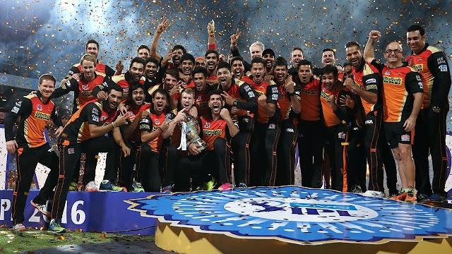 सनराइजर्स हैदराबाद बना आईपीएल 9 का चेम्पियन