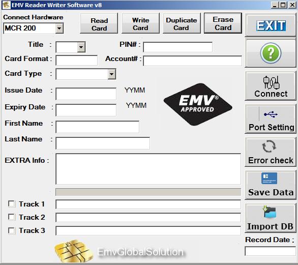 Emv reader/writer v8. 6 ( emv software) emv global solution.