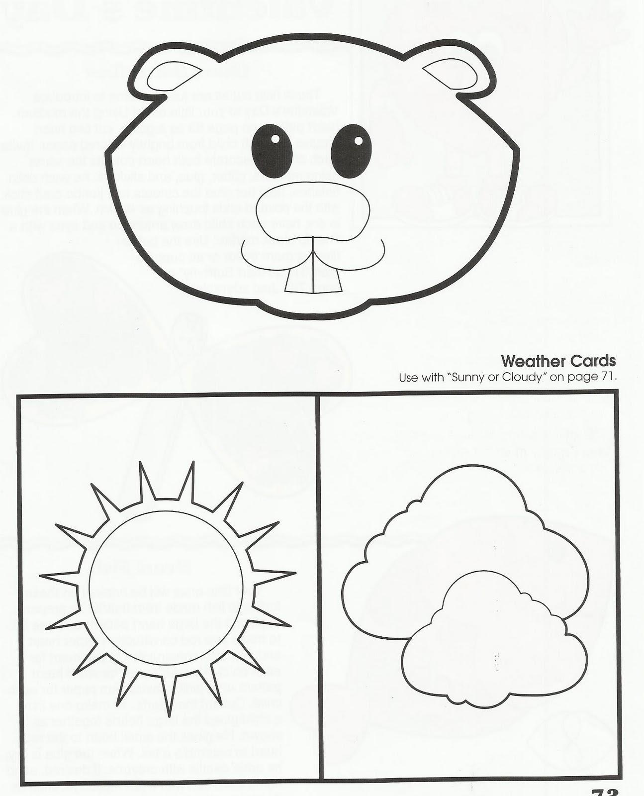 Squish Preschool Ideas Groundhog Day