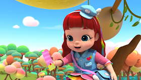 Ruby é a protagonista da animação e assume diversas funções: médica, bombeira, cabeleireira e piloto de avião são algumas delas - Divulgação