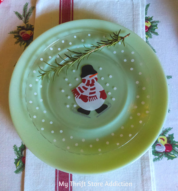whimsical Christmas French snowman tablescape