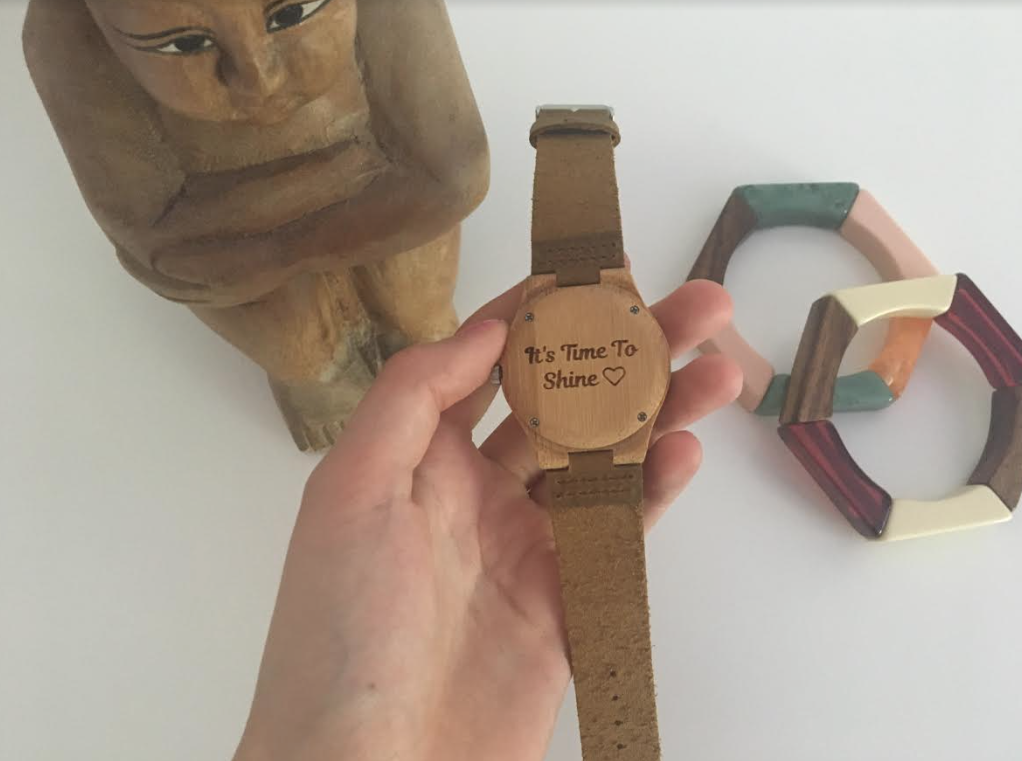 Unique Gift Idea: Engraved Wooden Watch