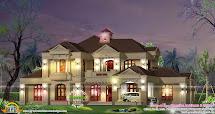 Five Bedroom Villa Exterior - Kerala Home Design And Floor