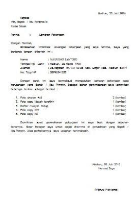 Contoh Surat Lamaran Kerja Cpns Di Kementerian Hukum Dan Ham Ri