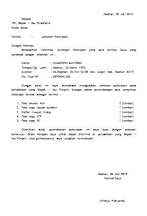 Contoh Surat Permohonan Pindah Kerja Pegawai Negeri Sipil Terbaru Resmi