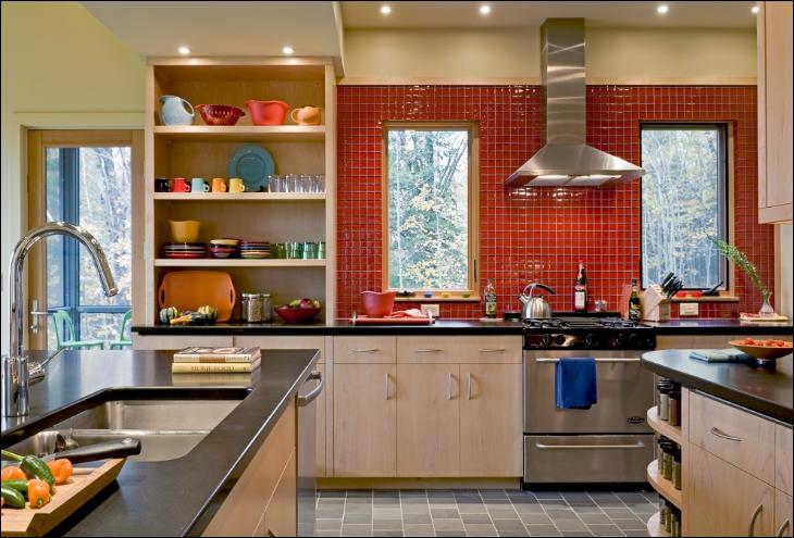 Key interiors by shinay orange kitchen ideas - Cocinas color naranja ...