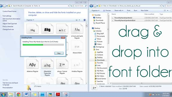 tutorial for font installation