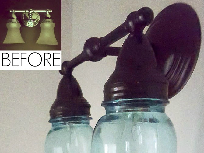 Simple and Inexpensive Light Fixture Makeover (with Mason Jars)