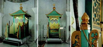 Lokasi Wisata Sejarah Kota Pekanbaru MIMBAR MESJID RAYA PEKANBARU