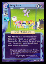 MLP Relay Race The Crystal Games CCG Card