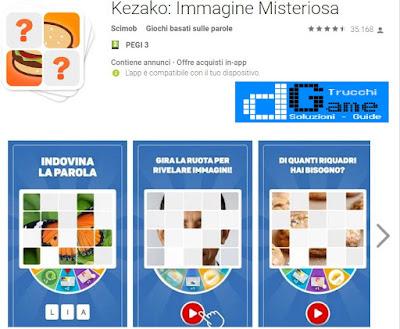 Soluzioni Kezako Immagine Misteriosa, gioco di parole android e iphone