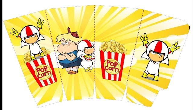 Kick Buttowski Free Printable Party Boxes.