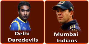 MI Vs DD match of IPL 6 on 9 April 2013