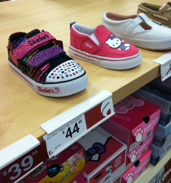 b26118f40403d9 Multiple-bling baby Skechers and baby Hello Kitty Vans. Done