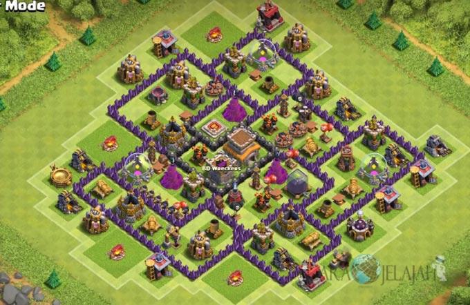 Base Trophy TH 8 di Clash Of Clans Terbaru Tipe 9