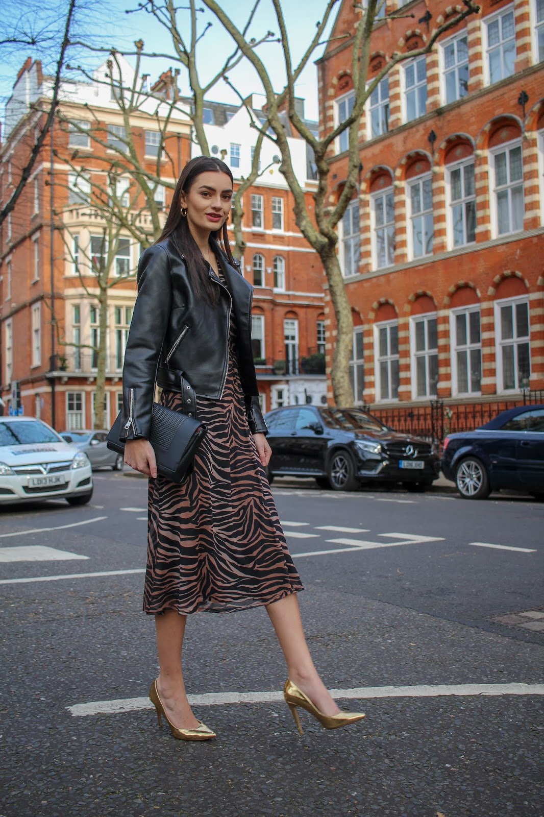 styling tiger print dress day-to-night